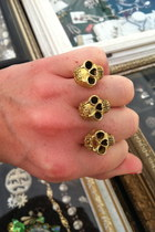 3 finger ring Vintage costume ring