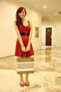 Ruby-red-forever-21-dress-hot-pink-tory-burch-shoes-light-brown-gucci-bag