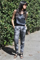Topshop pants - Forever 21 necklace - 11thofoctober top - SM flats