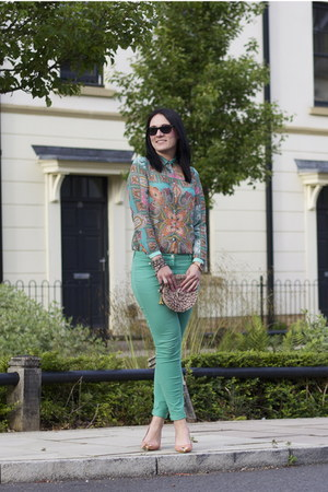 Zara shirt - H&M jeans - Topshop bag - Zara heels
