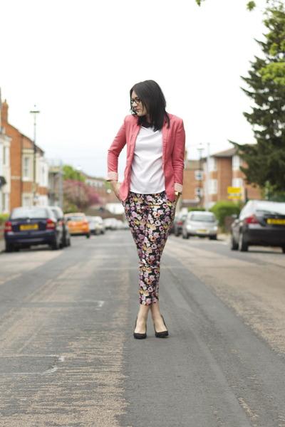 Bershka blazer - Zara heels - H&M pants - Zara top