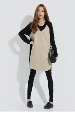 Celine dress - Forever 21 leggings - Forever 21 shoes