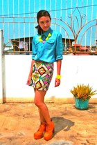 turquoise blue K2 top - tawny AsianVogue boots