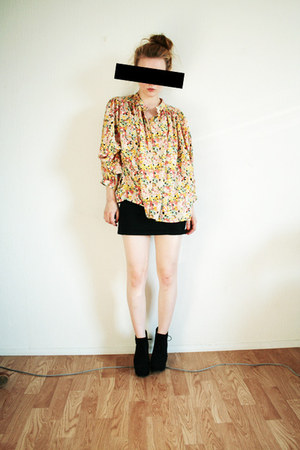 gold flower H&M SAMPLE blouse