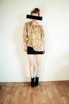 gold flower H&M SAMPLE blouse