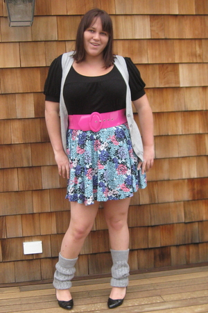 lola shirt - forever 21 vest - H & M skirt - belt - socks - Spring shoes