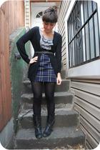 black Blowfish boots - blue kensiegirl dress