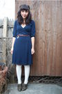Blue-h-m-dress-gray-seychelles-shoes-white-h-m-socks