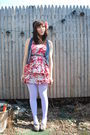 Pink-modcloth-dress-blue-f21-vest-purple-welovecolors-tights-gray-seychell