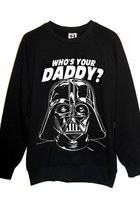 Darth Vader Star Wars Who's Your Daddy 100% Cotton Crewneck Sweatshirt Sweater