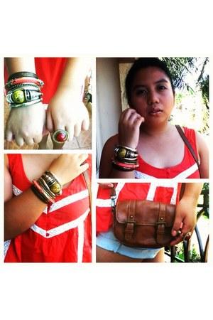 dark brown American Boulevard purse - Bayo top - accessories