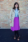 Camel-banana-republic-coat-blue-chambray-jcrew-shirt-black-target-tights