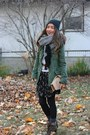 Birds-h-m-dress-utility-urban-outfitters-jacket-tan-american-apparel-purse