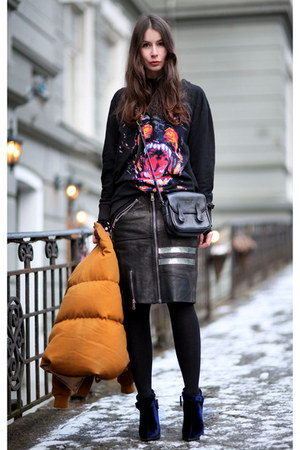 black givnchy sweater - black acne skirt