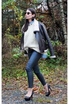 lindex jacket - pocoloco shirt - H&M pants