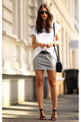 Silver-fillipa-k-skirt-white-fillipa-k-t-shirt-black-ralph-lauren-heels