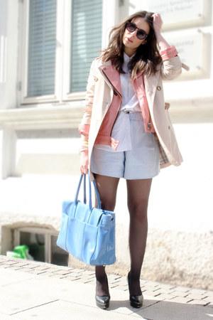 Burberry coat - Boss shirt - Carven shorts