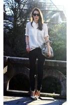 BikBok shirt - Diesel jeans - balenciaga heels