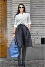Heather-gray-gina-tricot-sweater-cream-bik-bok-shirt-sky-blue-liz-lange-bag