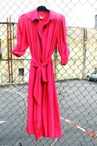 hot pink Halston dress