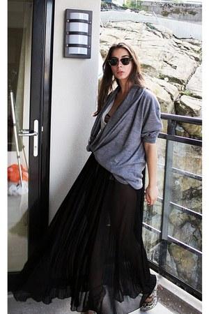 black H&M skirt - Miss Sixty boots - black H&M t-shirt