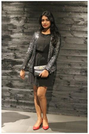 sequin Only jacket - black dress Only dress