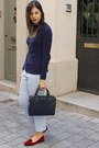 Zara-bag-h-m-pants-promod-necklace-zara-jumper-zara-flats