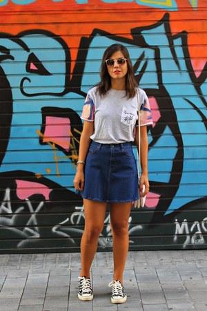 Primark Man t-shirt - Zara skirt - Converse sneakers