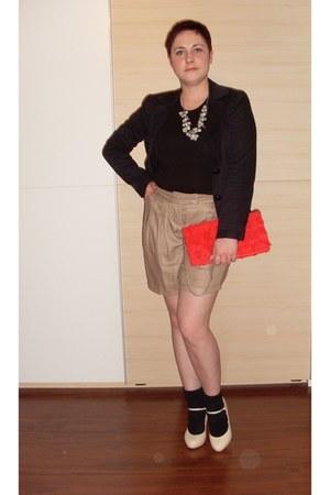 Anna Klein socks - H&M blazer - H&M bag - Pimkie shorts