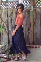 salmon staple dress