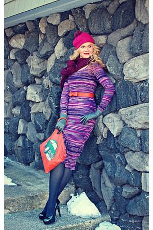 carrot orange bow belt DIY belt - black Sofia Vergara shoes