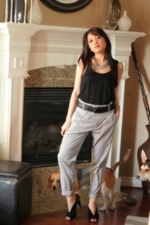 f21 top - Zara pants - f21 belt - Steven shoes - f21 necklace