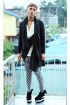 black Virtual Mae shoes - black asos coat - off white UNISEX by JP Singson pants