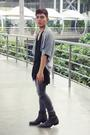 Gray-kaiser-vest-gray-cheap-monday-pants-gray-stradivarius-boots-black-num