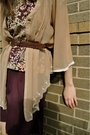 Beige-alloy-blouse-pink-vintage-dress-brown-thrifted-belt-brown-jeffery-ca