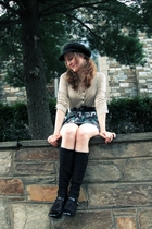 Urban Outfitters top - Express skirt - belt - free people leggings - Style & Co