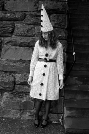 vintage dress - handmade hat - belt - Style & Co shoes