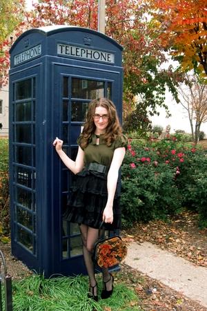 dress - skirt - belt - purse - shoes