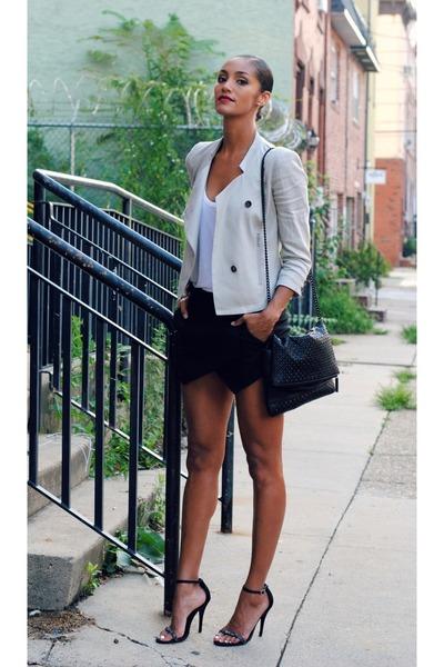 Helmut Lang jacket - Zara bag - Zara skirt - rayna sandal Steve Madden sandals