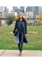 wool leather rag & bone coat - peep toe Zadig & Voltaire shoes - Topshop hat