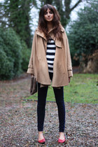 skinny Topshop jeans - ballet Office shoes - Topshop cape