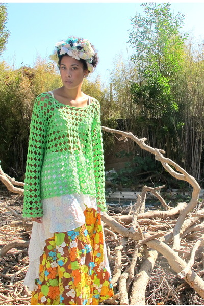 yellow skirt - chartreuse shirt