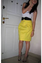 Zara skirt - Topshop blouse - unbranded belt - Zara shoes