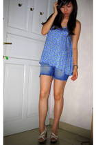 Mango top - far east shorts - Charles & Keith shoes