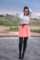 off white Topshop top - salmon H&M skirt