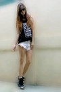 Black-isabel-marant-shoes-white-oneteasepoon-shorts
