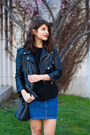 Black-leather-cropped-nasty-gal-jacket-black-coach-bag