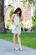 heather gray others follow dress - ivory vintage Chanel bag
