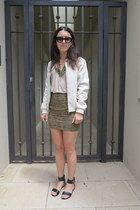 Sportsgirl jacket - Ellery sunglasses - t by alexander wang top
