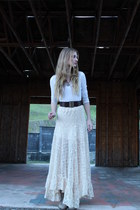 free people skirt - supre sweater